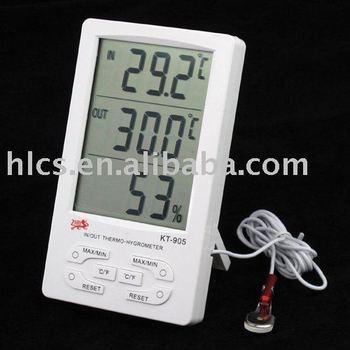 Digital LCD Clock Thermometer Hygrometer Meter C / F #1303