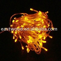Free Shipping 10M 100 LED Yellow String Fairy Lights for wedding Party decorate, Christmas LED light +Wholesale