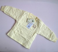 Baby thermal underwear_yellow/Baby thermal pajamas/100%cotton