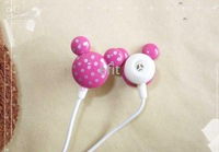 Wholesale - Mickey Mouse polychromatic Earbud In-ear Earphone for mp3 mp4 Player 50 pcs