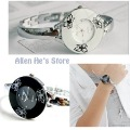 Graceful Lotus design,quartz analog watch,metal watchband,lady's fashion Watch +free shipping
