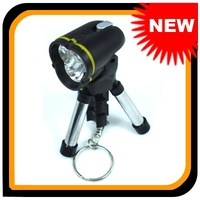 10 pcs/lot  Mini Tripod Keychain LED Flashlight,Free Shipping! 102466