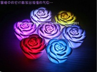free shipping 10pcs/lot LED Floating Change Color Rose Changin LED rose light Romantic Gift Party Home Christmas Decoration