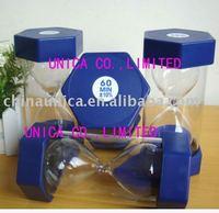 60 minutes sand timer/Plastic Sand Timer Hourglass/sand timer stock/hourglss/sandglass/plastic sand timer