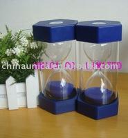 ABS 60minutes sand timer/Plastic Sand Timer Hourglass/table sand timer/hourglss/sandglass/plastic sand timer