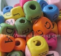 Free Shipping Colourful Alphabet Letters Wood Beads