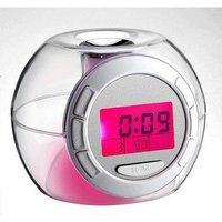 Music Alarm Date 7 color change lights Digital Clock