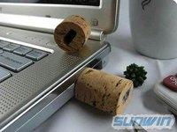 Free shipping new design USB Flash Drive Wine Stopper Creative design U disk 2GB(100%real capacity)