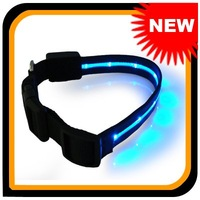 Flexible Strong Nylon LED Light Dog Collar(3 colors) ,Free Shipping! 102299