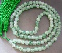 Tibetan Buddhist 108 Jade Beads Prayer Mala Necklace shipping free 001