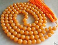 Tibetan Buddhist 108 Jade Prayer Beads Mala Necklace shipping free 003