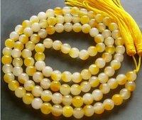 Tibetan Buddhist 108 Jade Beads Prayer Mala Necklace shipping free 006