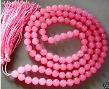 tibete budista 108 jade rosa oração contas de colar mala frete grátis(China (Mainland))