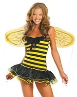 2010 Bee Fairy yellow costume with Skirt&T back by EMS/DHL