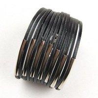 Fashion Punk Leather Bracelet, Leather Bangle