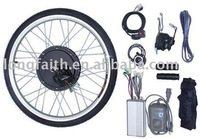24V 500W Rear Wheel e-bike,e-bicycle,ebike,electric bicycle,electric bike conversion kits with brushless gearless hub motor
