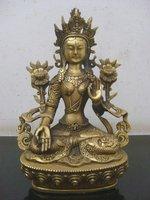 Tibetan Buddhist bronze WEISSE TARA  buddha statue 20 cm 1.2 KG  free shipping