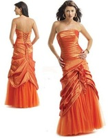 Free shipping A-Line Floor-Length Sleeveless  Beading Prom Pageant Dress 81