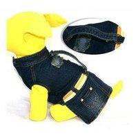 Whole sale fashion jean pet clothes/wear/ dog skirt /pet accessories/5pcs per lot-free shipping