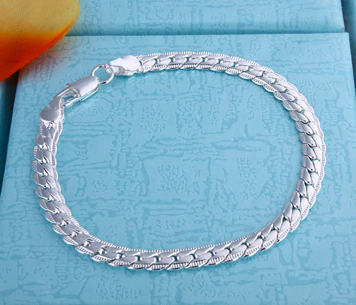 Fashion Jewelry Men s bracelet in 925 sterling silver 5MM 8 Best price ever Free fast