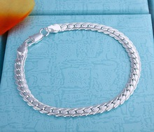 Fashion Jewelry Men's bracelet in 925 sterling silver 5MM 8″Best, price ever, Free & fast shipping 2589
