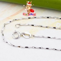 Fashion Design Jewelry,Hot Sale Free Shipping Wholesale Ingot pure real 925 silver chain necklaces for man and woman SC004