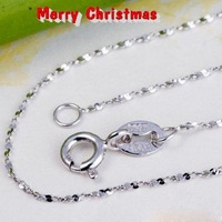 Silver Wonderful Full of Stars silver chains necklaces free shipping  925 sterling silver chains SC006