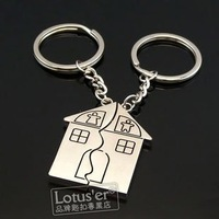 Free Shipping wiht EMS wholesale keychain/couple keychain/20couple/lot/Classic cute little house lovers keychains