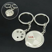 Free Shipping wiht EMS wholesale keychain/couple keychain/20couple/lot/110483 often brings misfortune lovers keychains add-ons