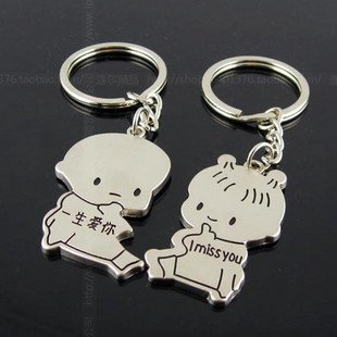 Free Shipping wiht EMS wholesale keychain/couple keychain/20couple/lot/110764 lovers men and women baby keychains