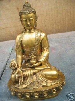 Large Tibet Tibetan brass Medicine Buddha Statue BY EMS 100% free shipping