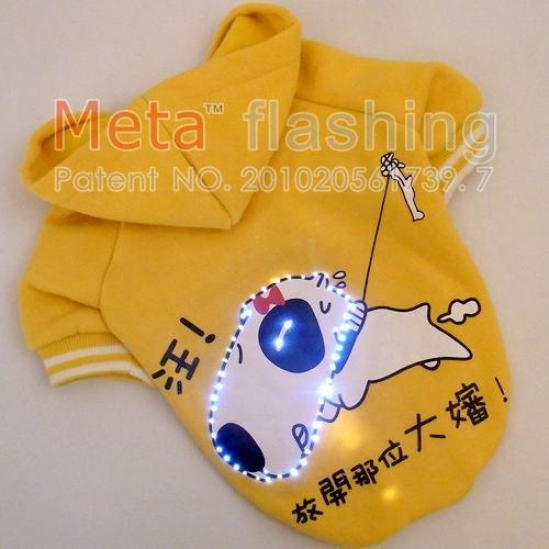 META LED piscando mix roupa do cão cão produtos de inverno 10pcs/lot atacado(China (Mainland))