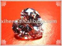 heart shape white cubic zirconia stone