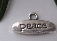 Free Shipping 200Pcs Tibet Silver Peace Charm pendants