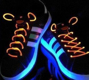 Free Shipping  15pair/colorful led flashing shoelace