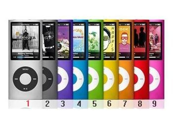 "WHOLESALE GIFT & free shipping - BrandNew 8gb 9 color 1.8"" LCD 4th Gen mp3 usb player FM(China (Mainland))"
