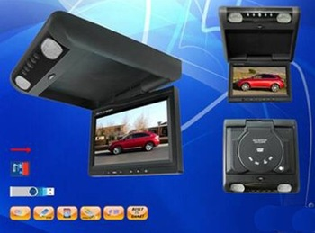 "7"" Flip down monitor with DVD, VCD, CD, MP3, MP4, SD, USB for YJ-R070D1"