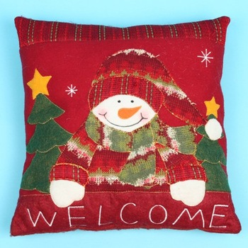 christmas  snow man Clasp Pillow