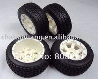 Baja 5t nylon hub mounted tarmac muster rib tyres,Baja 5b wheels-free shipping