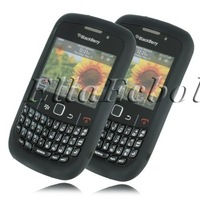Free Shipping 100% Brand New Black Silicone Gel Skin Case For Blackberry 8520