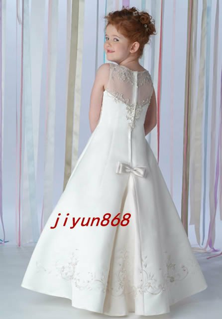 2012 new style flower girl dress party wedding graduation pink single tulle No.419 Diamond decoration elegant FL-1249(China (Mainland))