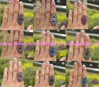 wholesale fashion Retro style rhinestone flower rings YY00725