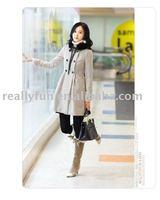 Free Shipping/Hot Sale Women's Fashion Wool&Fox Fur coat, Winter Noble Long Coat M-XL size