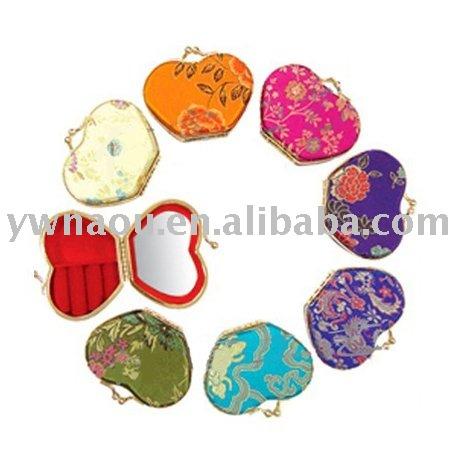 Grátis frete porta treco forma de maçã com espelho de tamanho mini 1 lote saleing para cor da mistura(China (Mainland))