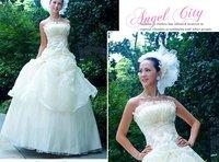 free shipping 2010 NEW Arrival women's Wedding Dress Ruffles Wedding Dresses dress wedding gown bride wedding Evening dress