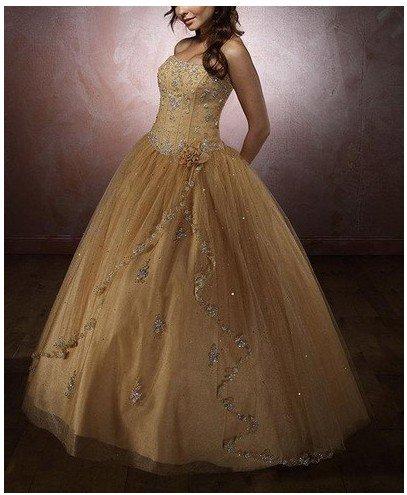 Pale yellow wedding dresses