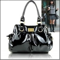 PROMOTION! Free Shipping brand new Ladies' PU Black and White Designer Hand bag 2012 Hot Sale Classic for christmas  1207261