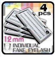 240 x 12mm Individual Fake Long Black Eyelashes free shipping