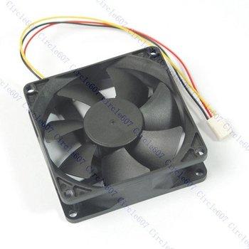 D19Free shipping!80mm x 25mm CPU PC Fan Cooler Heatsink Exhaust 3 pin