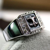 Crystals Ladys Rings Christmas Gift Rz315 classics Metal Fashion